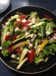 Tofu Veggie Scramble w/ zucchini, broccoli, bell peppers, and asparagus